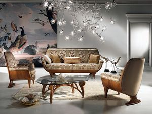 DI01 Confort canapé, Canapé-Bois, rembourré, confortable, luxe classique