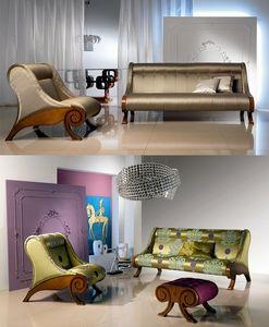 DI06 Glamour canapé, Canapé cadre en bois, enduits personnalisable