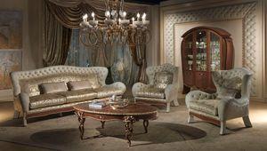 DI23 Vanity canapé, Canapé 3 places avec, dans le luxe classique