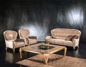 DI34 Butterfly, Canapé classique, 3 sièges, sellerie cuir, pour le salon