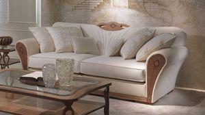 DI36 Charme canapé, Canapé rembourré en bois pour les salons de luxe