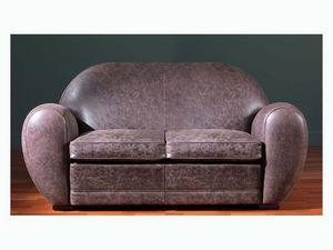 Edward Sofa, Canapé en cuir avec un haut niveau de finitions artisanales