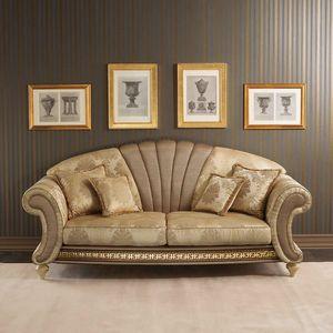Fantasia Canapé, Canapé de style néoclassique avec panneau central en éventail