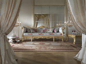 Fiore Canapé, Canapé de luxe avec finition dorée