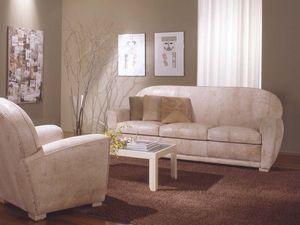 Geo Sofa, Canapé en cuir pour le salon et la salle d'attente