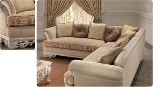 Golf, Canapé d'angle pour le salon classique de luxe, sculpté