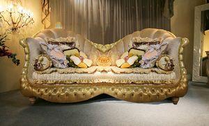 Hollywood, Canapé classique, touffus, des jambes sculptées rembourrées