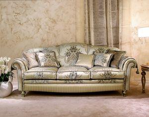 Ibisco, Canapé classique en velours décoré
