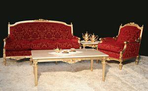 Impero Salle de séjour classique, Salon élégant style Empire