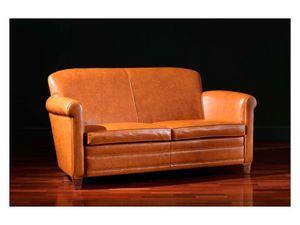 Ippolito Sofa, Canapé en cuir, 30s et 50s style