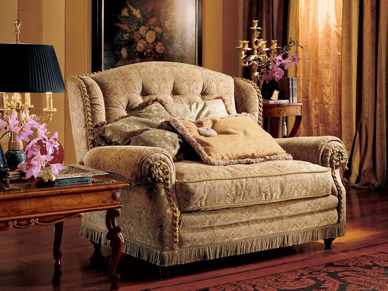 Katerina sofa, Canapé deux places, style classique de luxe