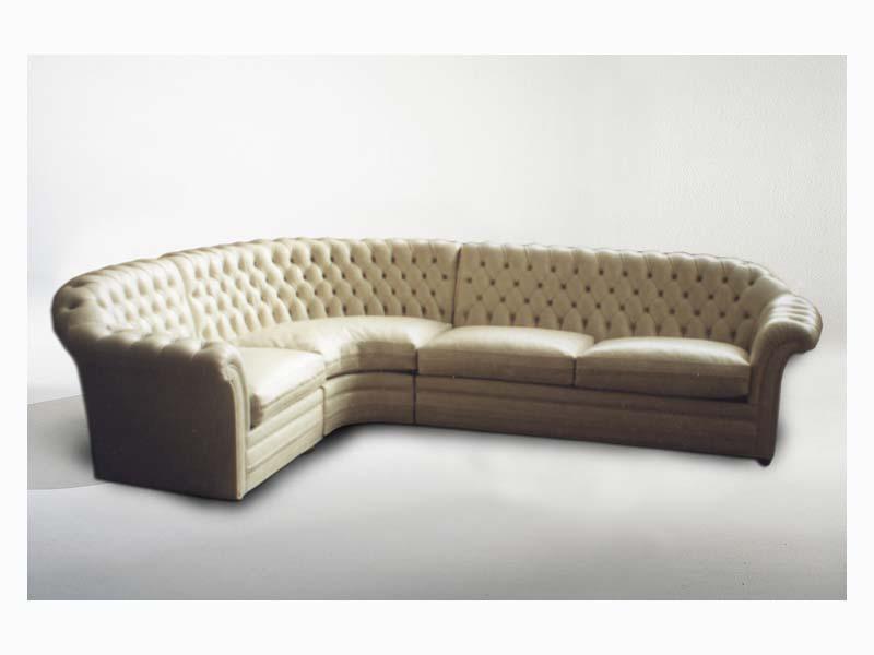 Lloyd Angular Sofa, Canapé d'angle pour les grandes pièces de vie, style classique