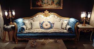 Ludovica, Canapé luxueux avec de précieuses sculptures artisanales