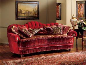 Marika sofa, Canapé de style classique avec rembourrage matelassé