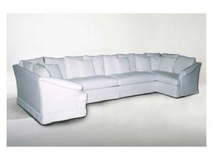 Marlene Angular Sofa, Canapé d'angle, style classique, en tissu