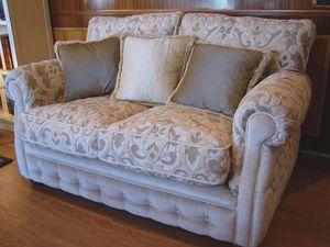 Melody, Canapé classique pour le salon, capitonné confortable