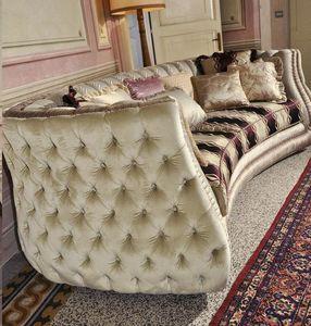 Michelle, Canapé matelassé rembourré dans le style de luxe classique