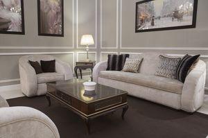 New York divano, Canapé arrondi, recouvert de tissu
