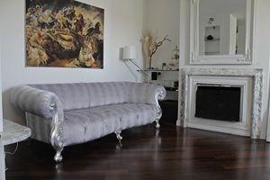 Oceano, Nouveau canapé baroque avec rembourrage capitonné