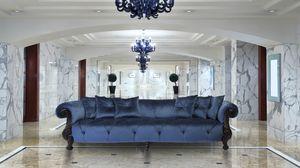 Oceano Walnut, Canapé classique idéal pour les villas et hôtels