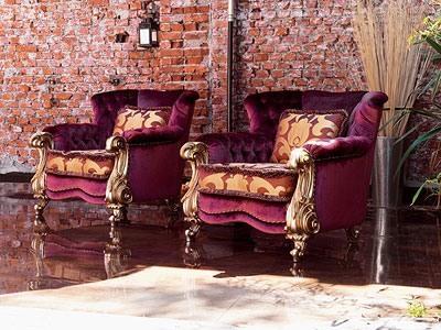 Orchidea, Canapé luxe classique, des finitions de feuille d'or
