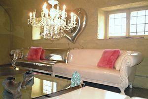 Queen modulaire, Canapé classique avec structure en bois de hêtre massif