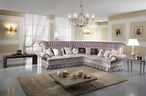 QUEEN angulaire, Coin canapé matelassé, avec lit