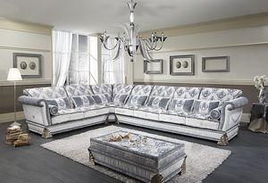 RIALTO angulaire, Canapé d'angle personnalisable, style classique de luxe