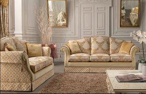 Royal, Canapé 2 places pour les salles de séjour, classique
