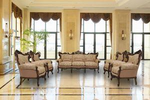 Stradivari Noyer, Canapé 3 places idéal pour des villas de luxe