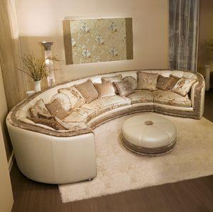 Venere, Canapé d'angle classique dans un style contemporain d'origine