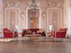 Veronica canapé, Canapés boutonnés, pour le luxe classique des chambres assis