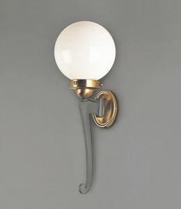 CAPRI GL3036WA-1, Lanterne d'extérieur en fer et laiton