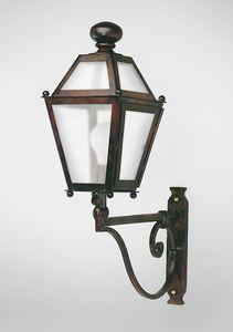 CHIANTI GL3009AR-1UP, Lanterne en fer avec bras, pour usage extérieur