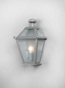 LUNGARNO GL3007WA-1SIMPLE, Demi lanterne en verre galvanisé