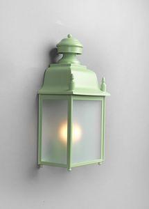 MANZI GL3025WA-1, Lanterne en fer avec verre transparent