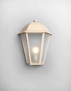 MARMI GL3014WA-1M, Lanterne en fer, finition beige