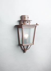 MOROZZI GL3027WA-1, Demi lanterne en fer finition rouille