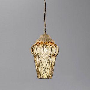 Piazza Es114-040, Lampe à suspension d'extérieur, en cristal de Baloton