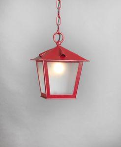 TOSCANA GL3029CH-1, Lanterne à chaîne en fer rouge