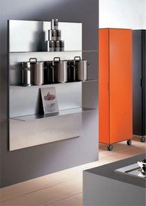 ALL comp.03, étagères en aluminium pour la cuisine, dans un style linéaire