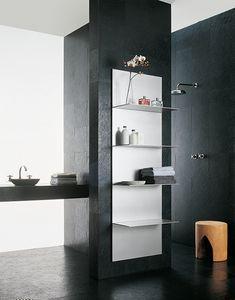 ALL comp.04, Tablettes en aluminium extrudé, différentes finitions, pour une salle de bains