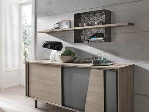 MODUS ML500, Stratifié, étagère, décoré, métal, structure
