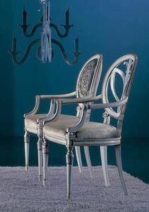 120PI, Chaise avec accoudoirs sculptés