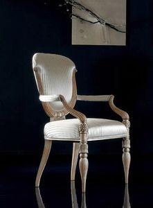 280P, Chaises avec accoudoirs en bois