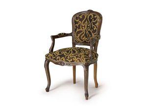 Art.109 armchair, Fauteuil en bois de style Louis XV
