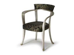 Art.193 armchair, Fauteuil avec accoudoirs en bois, style classique