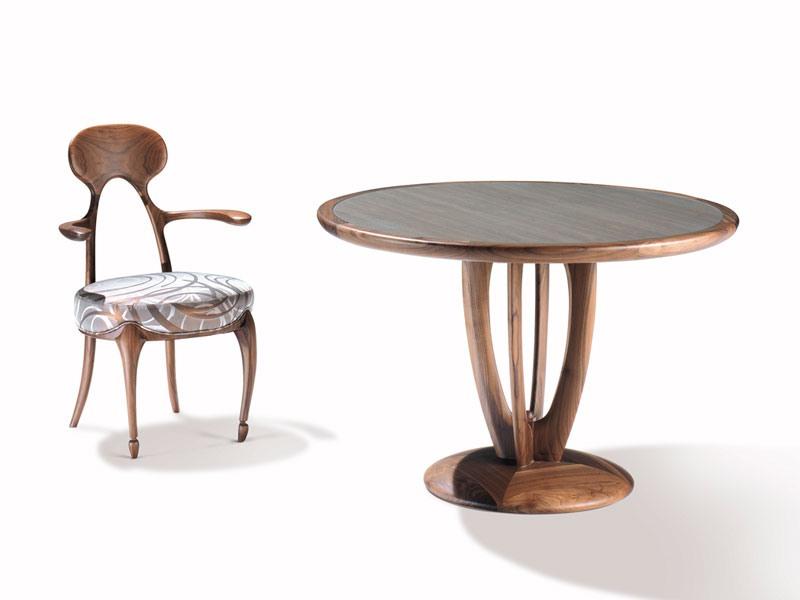 Art.243 armchair, Chaise avec dossier et accoudoirs en bois