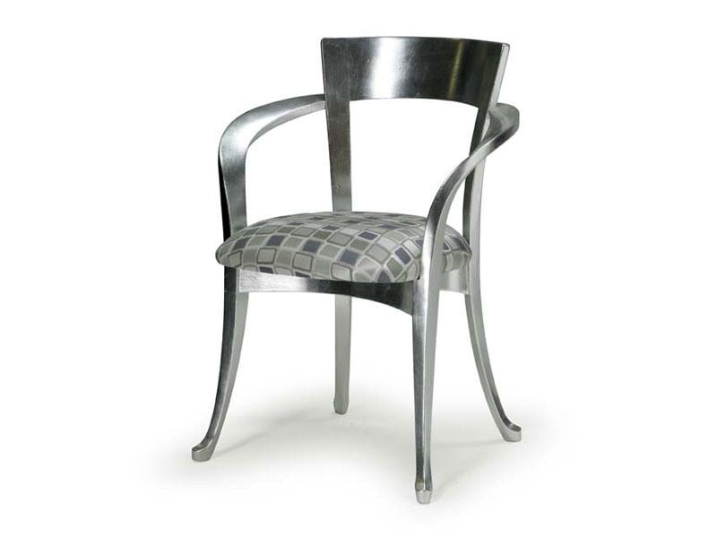 Art.446 armchair, Chaise de style classique en bois avec accoudoirs