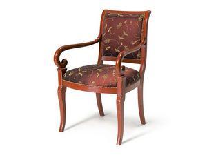 Art.467 armchair, Fauteuil de style classique, assise et dossier rembourrés